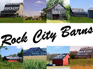 Barns with ads for Rock City